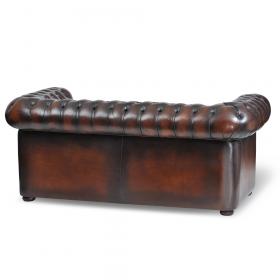 Canapé Chesterfield assise capitonnée vue de dos