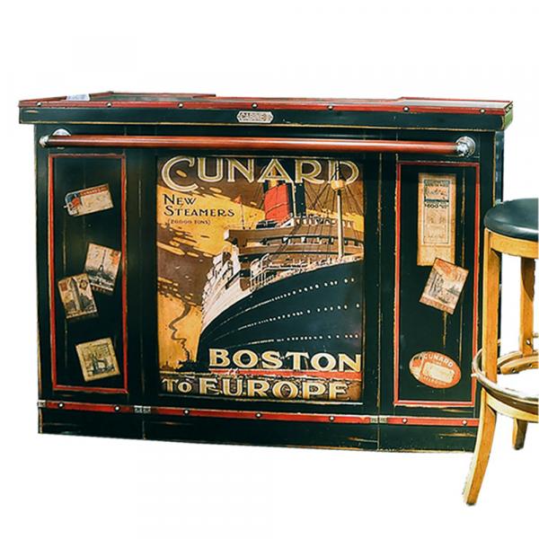 Bar Marie Galante Noir - Acajou patine jadis - Poster Cunard