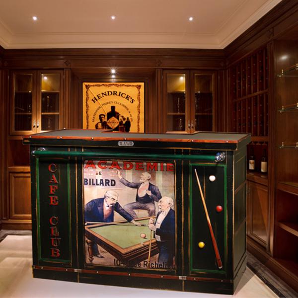 Bar Marie Galante Noir - Acajou patine jadis - Poster Cunard intérieur